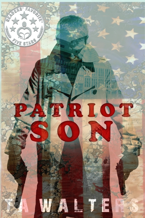 patriot son flag with award emblem